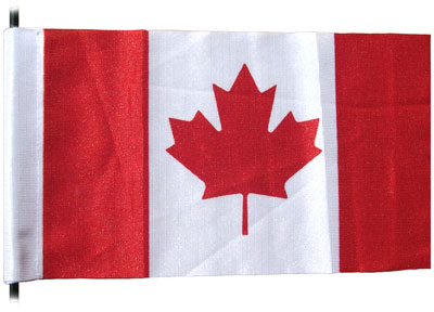 Canada antenna flag with double-sided velcro strip