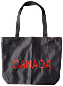 Nylon beach bag with your choice of embroidery on one side