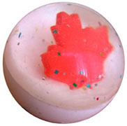 Canada Maple Leaf Rubber Ball with 3D maple leaf inside