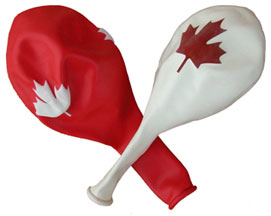Small maple leaf balloons…comes in 2 colors!