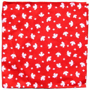 Canada Maple Leaf Bandana in red with white maple leaves