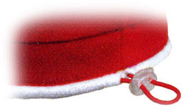 Close-up view of beret size adjustment