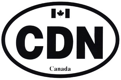 CDN Bumper Sticker (international driving symbol - black)