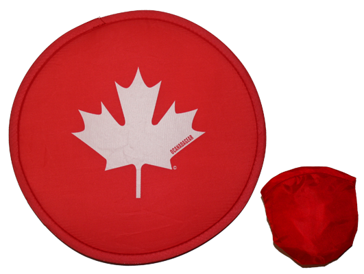Canada Folding Frisbee Red