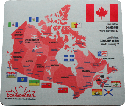 Canada Map Mouse Pad