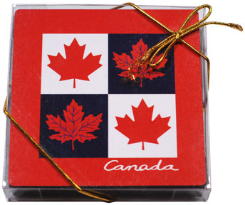 Canada Plastic Coaster 4-piece set