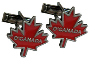 O'Canada maple leaf cuff links for any classy, Canadian event