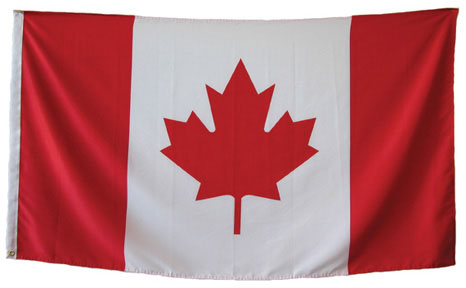 Canadian indoor flag in your choice of 2 sizes!