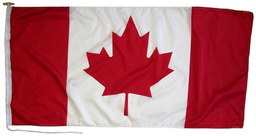 Canadian outdoor flag in your choice of 3 sizes!