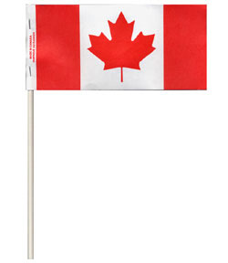 Canada paper flag on pole
