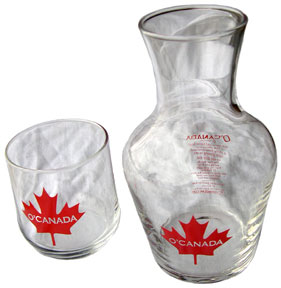 Glass cup and pitcher set…perfect for any office or bedroom