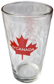 Large, thick glass cup…great for mixing drinks, or simply as a drinking glass