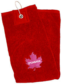 O'Canada Golf Towel (red)