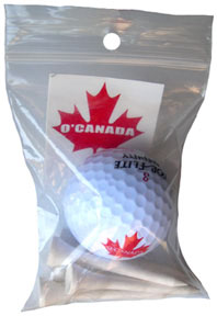 O'Canada Golf Ball and Tees