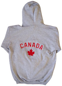 Canada Pull-over Hoodie with Full-Back Embroidery