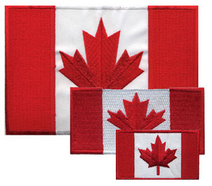 Canadian Flag Iron-on Patch (3 sizes)