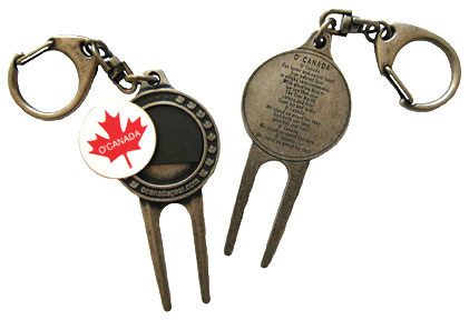 O'Canada Golfer's Keychain with detachable magnetic ball marker