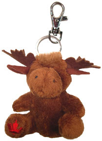 Canada Maple Foot Moose Keychain