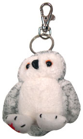 Canada Maple Foot White Owl Keychain