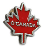 O'Canada Maple Leaf Label Pin
