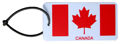 Canada Luggage Tag (plastic front side with flag)