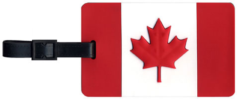 Canada Luggage Tag (rubber front side with flag)