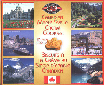 Canadian Maple Syrup Cream Cookies (box)