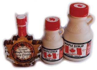 Canadian Maple Syrup (glass and plastic bottles)