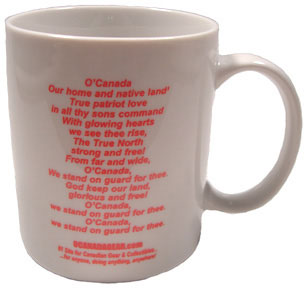 O'Canada Coffee Mug (ceramic with Canadian National Anthem)
