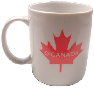 O'Canada Coffee Mug (ceramic with large maple leaf)