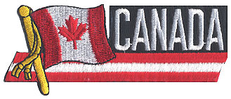 Canada Flag Pole Iron-on Patch