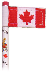 Canada Pencil Flag for use on any pencil or pen