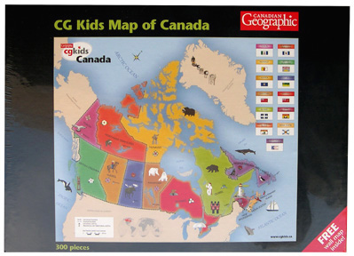 Map Of Canada Kids.Canadian Geographic Kids Map Of Canada Puzzle