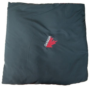 Canada Quillow with embroidered half maple leaf (nylon shell)