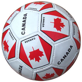 Canada Soccer Ball with Canadian Flags