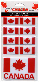 Canada Puffy Stickers (9-pack)