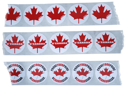 O'Canada Maple Leaf Stickers in your choice of 3 styles!