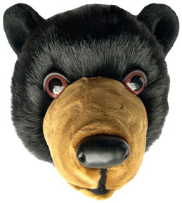 Wall-mount black bear head for the 'mountain cabin' look