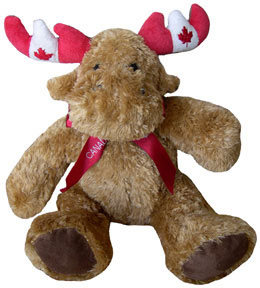 Canada Fuzzy Stuffed Moose (light brown)