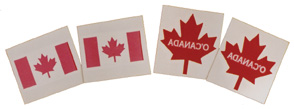 O'Canada Tattoos (Canada flag and maple leaf)