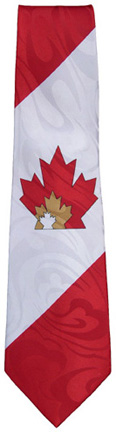 Canada Necktie with maple leaf