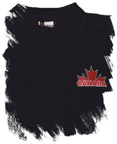 Canada Kicks Ass On Ice And Grass T-shirt (left-chest logo)