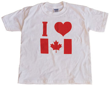 39 i love canada 39 t shirt for Custom t shirts edmonton