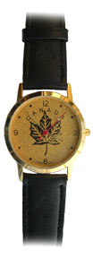 Men's Gold Canada Watch (maple leaf)