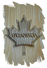 Engraved maple leaf on the front base of each Wedge